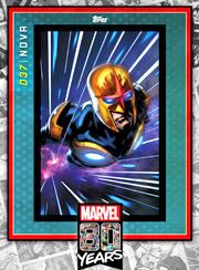 Marvel 80th Anniversary Card Silver