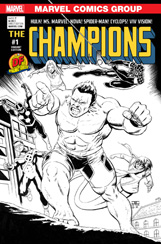 Champions #1 DF Sketch Variant